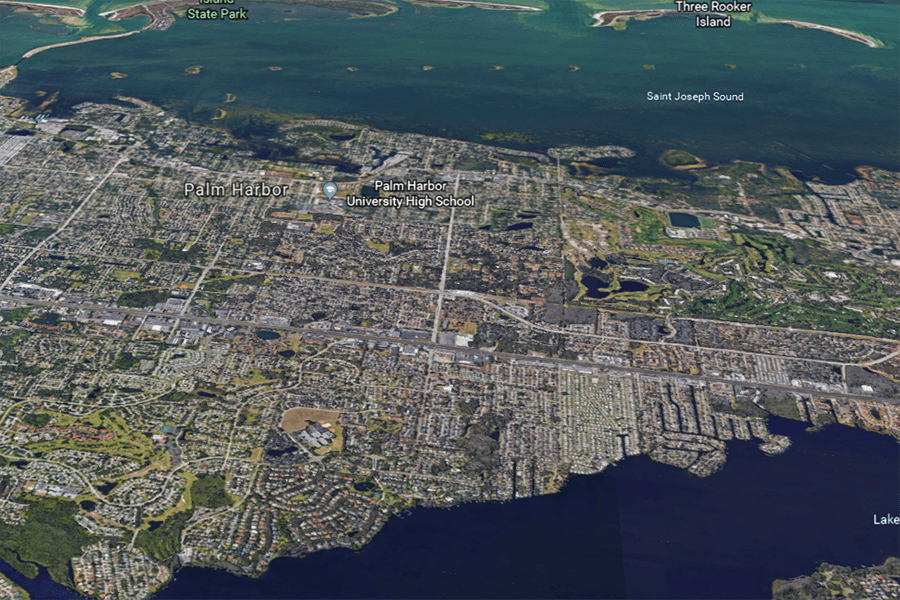 Palm Harbor Florida Aerial View